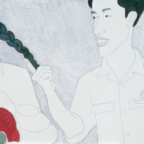 Ma Xiaoteng Seize the Queue pencil and acrylic on paper 23×50cm 2012 290x290 -  Reread –  Ma Xiaoteng Solo Exhibition Featuring His Paintings at Today Art Museum