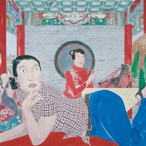 Ma Xiaoteng The Four Sisters 205×290cm Acrylic on Canvas 2013 290x290 -  Reread –  Ma Xiaoteng Solo Exhibition Featuring His Paintings at Today Art Museum