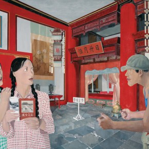 Ma Xiaoteng, The Palace of Earthly Tranquility, 205×300cm, Acrylic on Canvas, 2010-2012