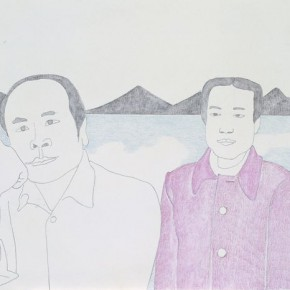 Ma Xiaoteng, Yanqi Lake, 23×50cm; Acrylic on Paper, 2012