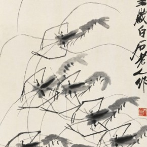 Qi Baishi Shrimps Hanging scroll ink on paper 134.5x31.5cm 290x290 - Artworks of Qi Baishi from the Collection of the Beijing Fine Art Academy on Display at Macao Museum of Art