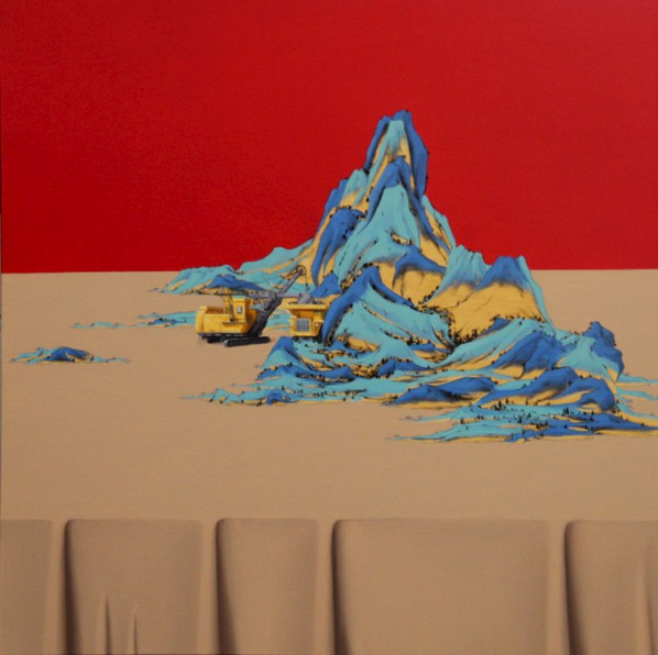 Shen Shubin, Landscape Scroll-Heavenly Creation No. 6, 2012; Oil on canvas, 60x60cm