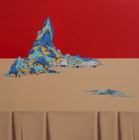 Shen Shubin, Landscape Scroll-Heavenly Creation No. 7, 2012; Oil on canvas, 60x60cm