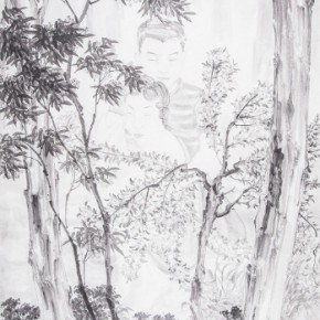"""Tan Leiming The Forest of Honey 2013 Ink on paper 138x69cm 290x290 - """"Ink Painting - Academic Exchange Exhibition"""" to be Presented in Taipei and Nanjing"""