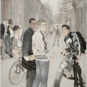 Wang Guanjun The Gorgeous Days Hello Beijing 2007 ink and color on paper 290x190cm 290x290 - The Image of China – Exhibition of Contemporary Chinese Painting and Sculptures on Display at the National Art Museum of China