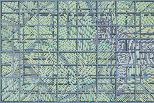 Xu Xiaoguo, Large Cage 6, 200X300cm; Oil on Canvas, 2013