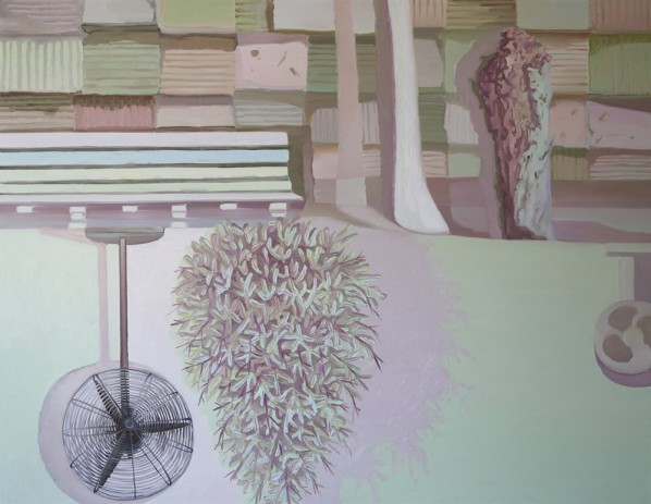 Xu Xiaoguo, Mirror the Scenery, 230X290cm; Oil on Canvas, 2013