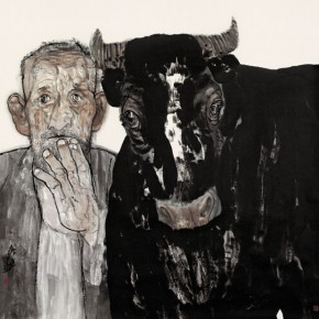 Yuan Wu Old Man and Ox 2011 Ink on paper 145x145cm 290x290 - The Image of China – Exhibition of Contemporary Chinese Painting and Sculptures on Display at the National Art Museum of China