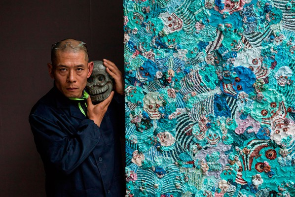 Zhang Huan in his studio. © Zhang Huan studio