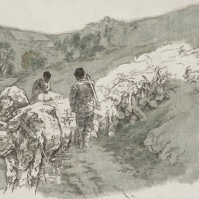Zhao Qi At the Entrance to Village 2005 Ink on paper 68x113cm 290x290 - The Image of China – Exhibition of Contemporary Chinese Painting and Sculptures on Display at the National Art Museum of China