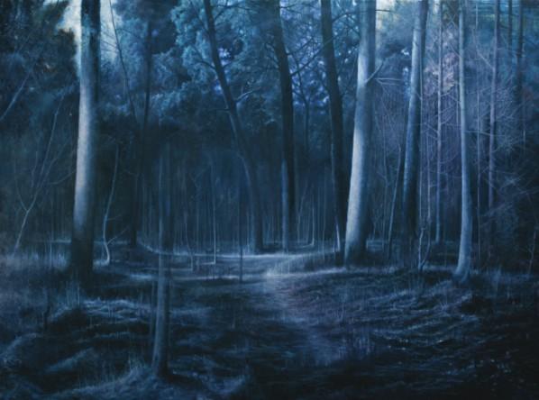 Zhu Xinyu, Turbid Landscape; oil on canvas, 2014