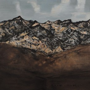 "03 Li Zhanghui ""Mountains Beyond Mountains"" oil on canvas 125 x 80 cm 2012  290x290 - Earth • Journey – Works by Li Zhanghui Opened at Permanence Gallery"