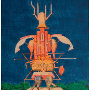 "03 Tang Hui, ""A Deer Robot No.2"", acrylic on linen, 60 x 50 cm, 2014"
