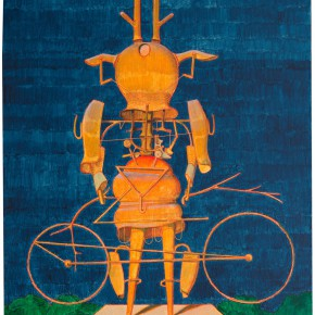 "04 Tang Hui, ""A Deer Robot No.1"", acrylic on linen, 60 x 50 cm, 2014"