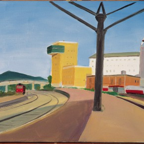 "04 Wu Yi Railway Station No.1 oil on canvas 40 x 50 cm 2007 290x290 - Carefree • Lofty – Dialogue about the ""Carefree Excursion"" by Wu Yi"