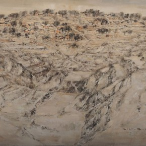 "06 Li Zhanghui ""Overlooking at Heqing Village to the North"" oil tempera on canvas 100 x 150 cm 2010 290x290 - Earth • Journey – Works by Li Zhanghui Opened at Permanence Gallery"