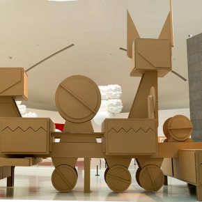 "06 Tang Hui, ""Noble Machine"", honeycomb cardboard, 600 x 1000 x 400 cm, 2014"