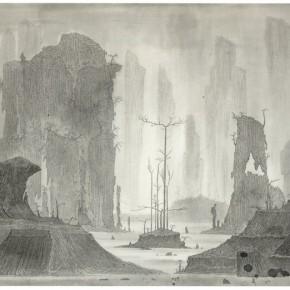 "09 Tang Hui ""Shushi Valley No.1"" ink on paper 130 x 71 cm 2014 290x290 - Tang Hui"