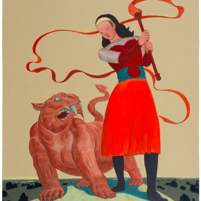 "104 Tang Hui, ""The Beast Integrated Tiger and Leopard"", acrylic on canvas, 100 x 120 cm, 2009"