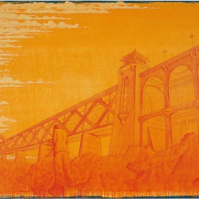 "105 Tang Hui, ""Yangtze River Bridge"", acrylic on canvas, 150 x 110 cm, 2008"