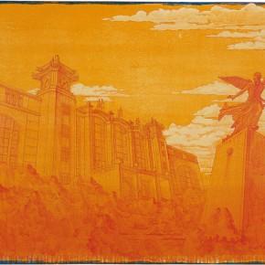 "108 Tang Hui ""Beijing Railway Station"" acrylic on canvas 150 x 100 cm 2008 290x290 - Tang Hui"