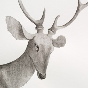 11 Tang Hui, detail of Deer, 2014