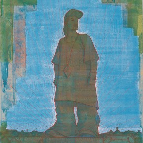 "116 Tang Hui, ""Statue of a Hip-Hop Man"", acrylic on canvas, 120 x 100 cm, 2007"
