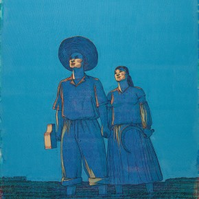 "117 Tang Hui, ""Blue Sky No.2"", acrylic on canvas, 150 x 100 cm, 2007"