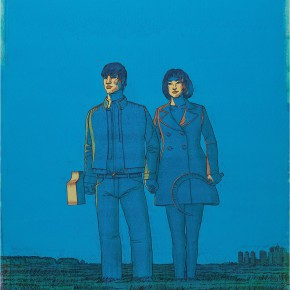"118 Tang Hui, ""Blue Sky No.1"", acrylic on canvas, 150 x 100 cm, 2007"