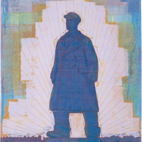 "119 Tang Hui, ""Statue of a Soldier"", acrylic on canvas, 120 x 100 cm, 2007"