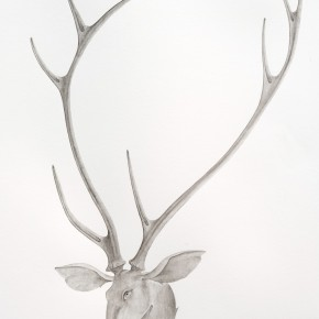 12 Tang Hui, detail of Deer, 2014