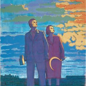 "120 Tang Hui ""The Red Sunlight"" acrylic on canvas 150 x 100 cm 2007 290x290 - Tang Hui"