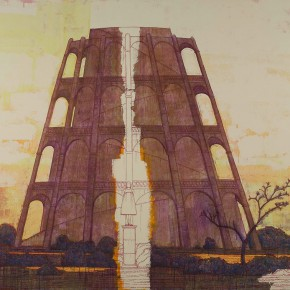 "127 Tang Hui ""The Floor Lamps"" acrylic on canvas 223 x 300 cm 2006 290x290 - Tang Hui"