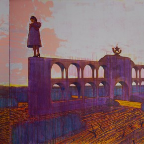 "128 Tang Hui, ""A Pregnant Woman and a Gentleman"", 400 x 220 cm, 2006"