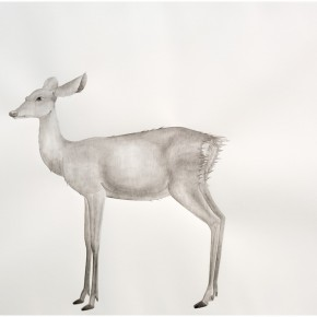 "13 Tang Hui, ""Deer 2014-4"", water soluble pencils on paper, 109 x 79 cm, 2014"