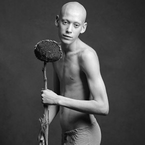 """15 Ivan Boy with Sunflower silver print 20'' x 24"""" 1997  290x290 - Challenge the Tradition — 20th Century Western Classical and Chinese Contemporary Photography"""