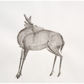 "15 Tang Hui, ""Deer 2014-2"", water soluble pencils on paper, 109 x 79 cm, 2014"