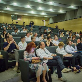 "15 View of ""The Collective Eye"" Symposium ""on the Differences of Collective Practice"""
