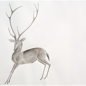 "16 Tang Hui, ""Deer 2014-1"", water soluble pencils on paper, 109 x 79 cm, 2014"
