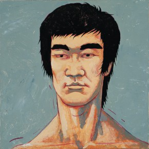 "185 Tang Hui, ""Protagonist Series No.2 – Li Xiaolong"", acrylic on canvas, 55 x 55 cm, 2000"