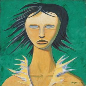 "186 Tang Hui ""Protagonist Series No.2 – Cartoon Girl"" acrylic on canvas 55 x 55 cm 2000  290x290 - Tang Hui"