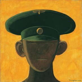 "187 Tang Hui, ""Protagonist Series No.2 – Northern Korean Soldier"", acrylic on canvas, 55 x 55 cm, 2000"