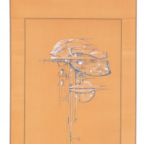 "188 Tang Hui, ""Protagonist Series No.1-5"", acrylic on silk, 40 x 200 cm, 2000"
