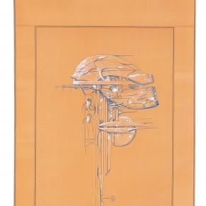 "188 Tang Hui ""Protagonist Series No.1 5"" acrylic on silk 40 x 200 cm 2000 290x290 - Tang Hui"