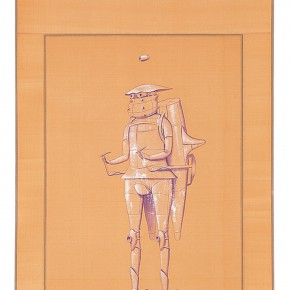 "189 Tang Hui, ""Protagonist Series No.1-4"", acrylic on silk, 40 x 200 cm, 2000"