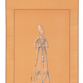 "190 Tang Hui, ""Protagonist Series No.1-3"", acrylic on silk, 40 x 200 cm, 2000"