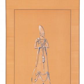 "190 Tang Hui ""Protagonist Series No.1 3"" acrylic on silk 40 x 200 cm 2000 290x290 - Tang Hui"