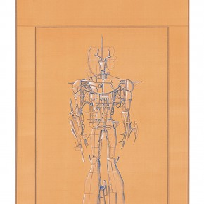 "191 Tang Hui ""Protagonist Series No.1 2"" acrylic on silk 40 x 200 cm 2000 290x290 - Tang Hui"