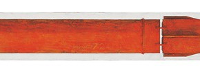 "195 Tang Hui ""The Cruise Missile"" acrylic on board 22 x 200 cm 1999 290x105 - Tang Hui"