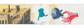 "197 Tang Hui ""The New Human"" acrylic on board 22 x 200 cm 2000 290x99 - Tang Hui"
